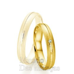 Aliança de casamento e noivado