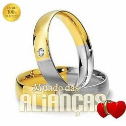 Aliancas em ouro 18k 750 para noivado e casamento