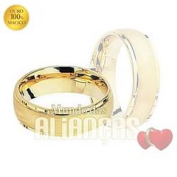 Aliancas de casamento em ouro