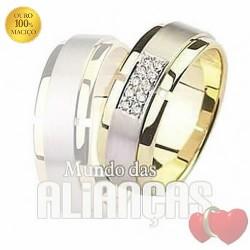 Alianças para casamento em ouro