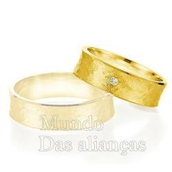 Aliança de casamento em ouro 18kilates 750
