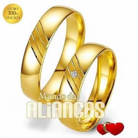 e98cd5844c Alianças de ouro para noivado ou casamento ...