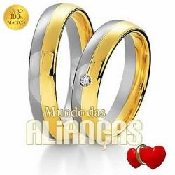 Alianças em ouro para noivado ou casamento