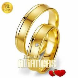 Aliancas de ouro para noivado ou casamento