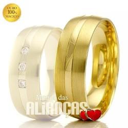 Aliancas em ouro 18k