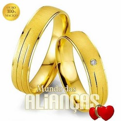 Alianças em ouro 18k 750 para noivado e casamento