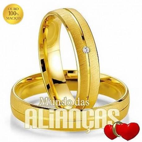 Alianças para casamento em ouro 18 k 750